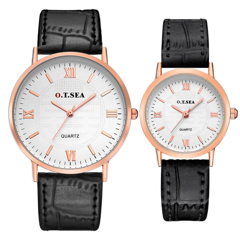 2PC Luxury  Watch Men's Lady Strapuple Quartz Wrist Watches