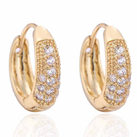 1Pair Girls Women Rhinestone Earrings Ear Hook Stud Jewelry