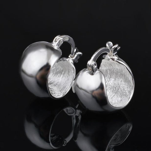 1 Pair Fashion Classic Jewellery Silver U-Shaped Hoop Earrings