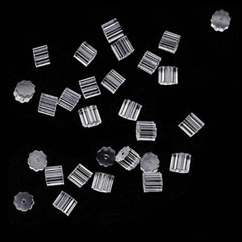 100 Piece Clear Clutch Earring Safety Backs For Fish Hook Earrings
