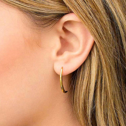 1 Pair Women New Popular Aloy Simple Dagger Stud Earring GD