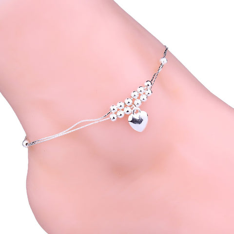 Anklet Foot Double Chain Crystal Bracelet