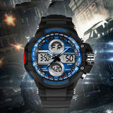 7 Color Backlights Sport Watch Men Chronograph Military Watch Waterproof Clock