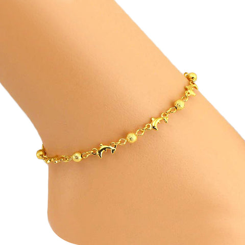 Ball Dolphin Women Ankle Bracelet Barefoot Sandal Beach Foot JewelryBall Dolphin