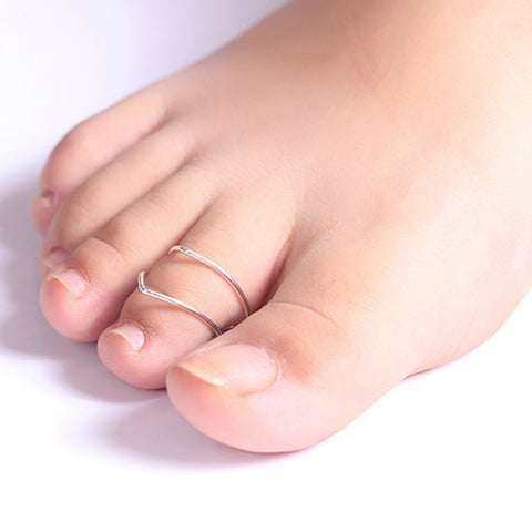 2PCS Toe Ring Sliver