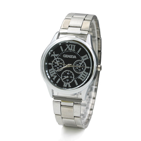 Stainless Steel Sport Quartz Hour Wrist Analog Watch
