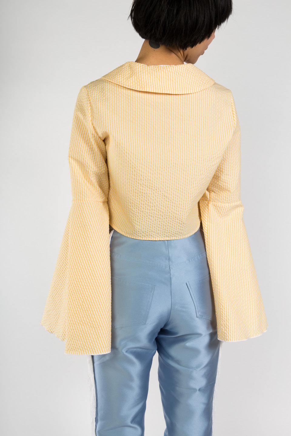 Suzanne Rae Flare Sleeve Blouse-Yellow Top