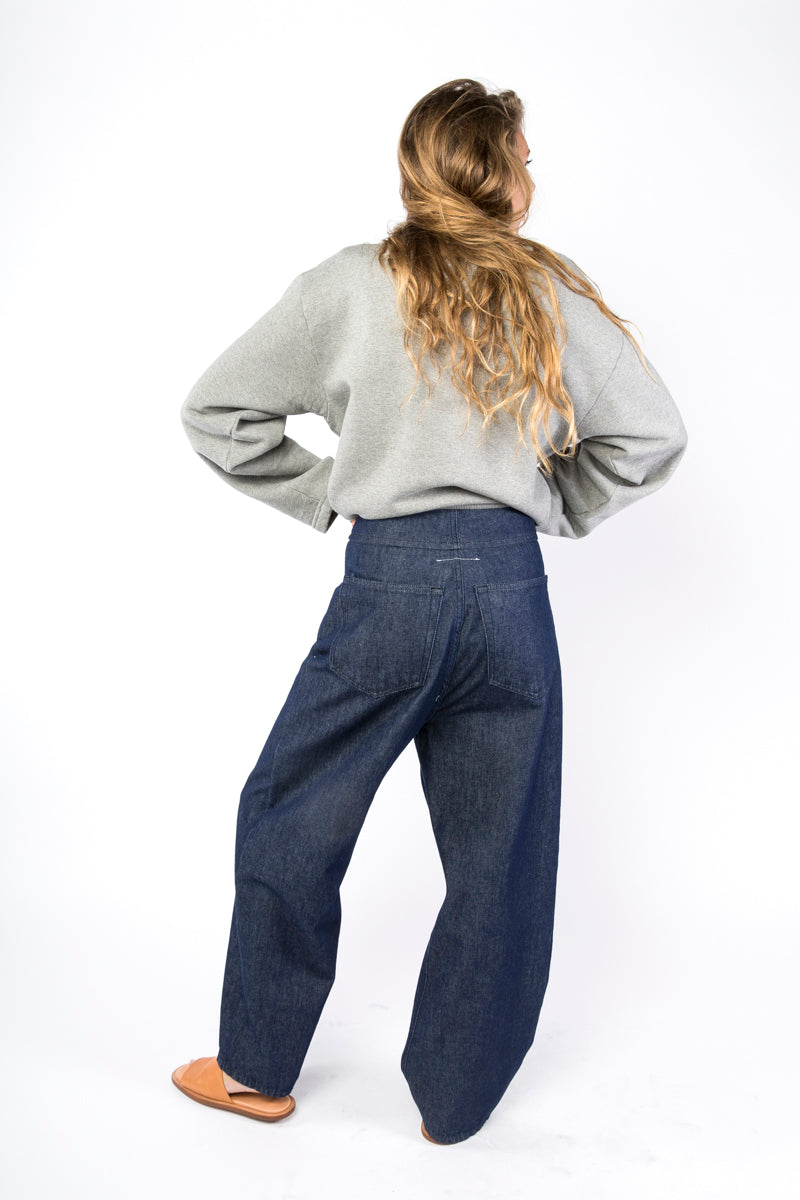 Idun-Saint Paul-MM6 by Maison Margiela Jeans-MM6 Jeans-Blue Jeans-High Waisted Jeans