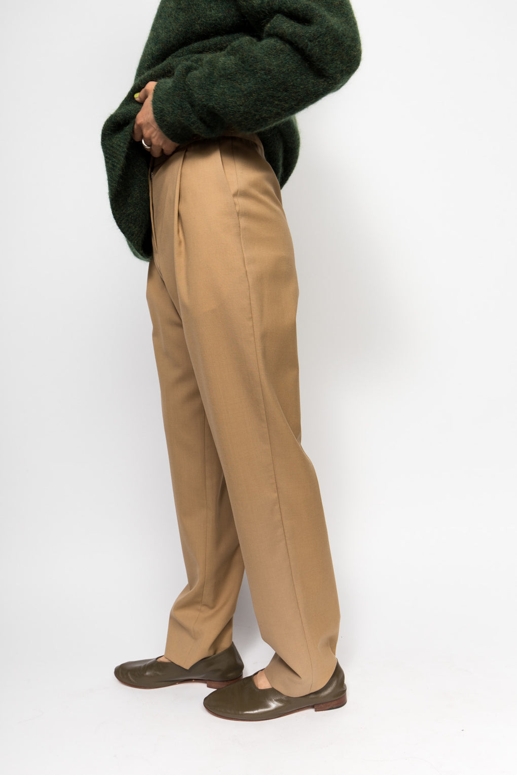 Norse Projects Disa Wool Trouser-Camel Trouser-Wool Trouser-Idun-Saint Paul
