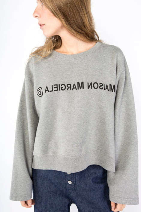 Idun-Saint Paul-MM6 by Maison Margiela Logo Sweatshirt-Grey Sweatshirt