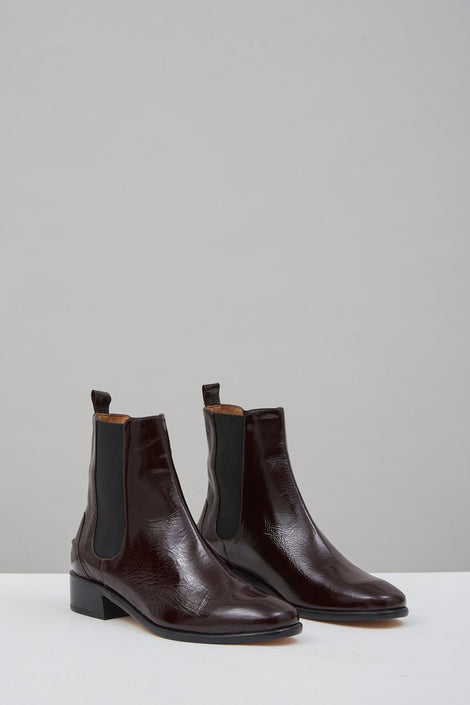 Rachel Comey Thora Boot-Thora Boot in Cherry-Burgundy Leather Boots-leather boots-Idun-St. Paul