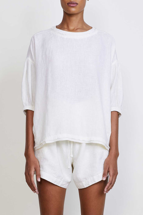 Apiece Apart-Delle Tee-white tee-Apiece Apart t-shirt-white summer shirt-Idun-St. Paul