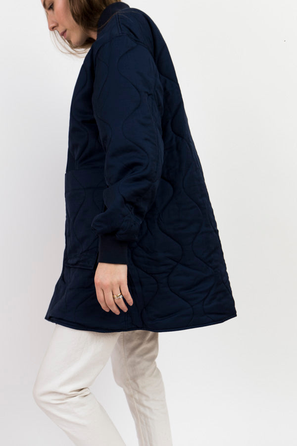 Maiden Noir Long Bomber-Reversible Coat-Reversible Jacket-Puffer Coat