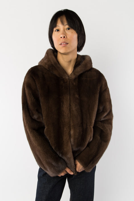 Sandy Liang Mink Hoodie-Mink Coat-Fur Jacket-Idun-Saint Paul