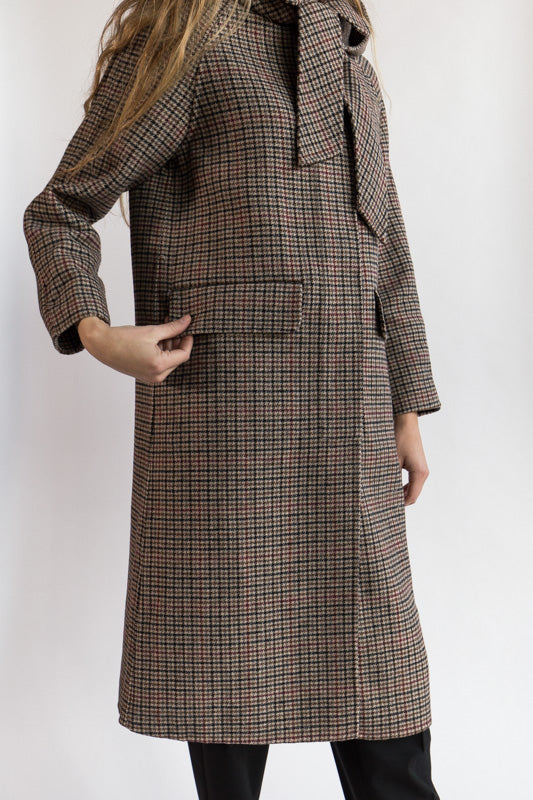Long Houndstooth Coat