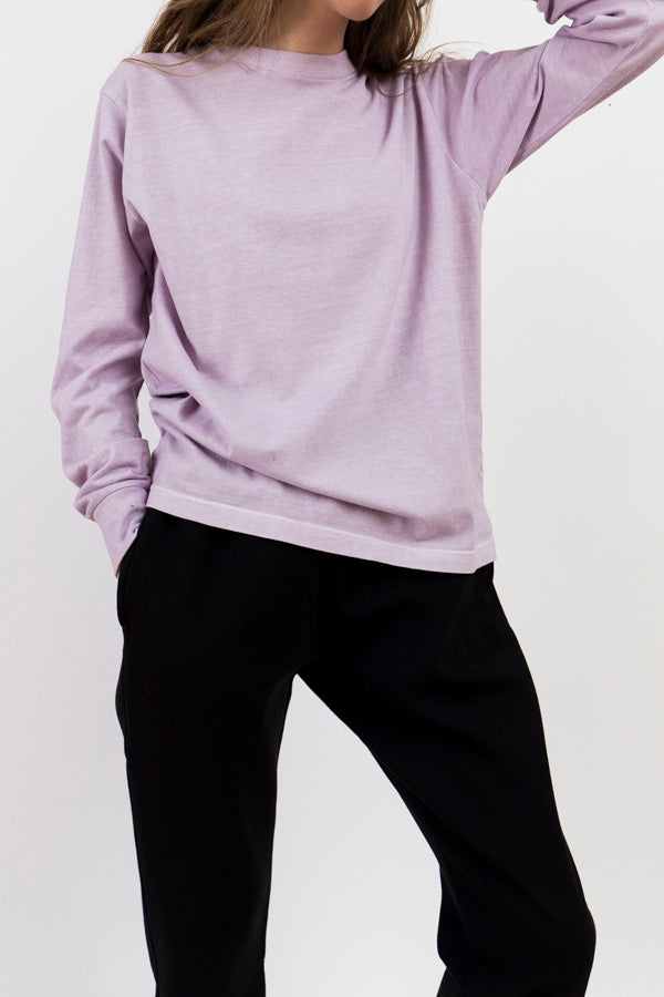Natural Dyed Block Jersey Long Sleeve Tee