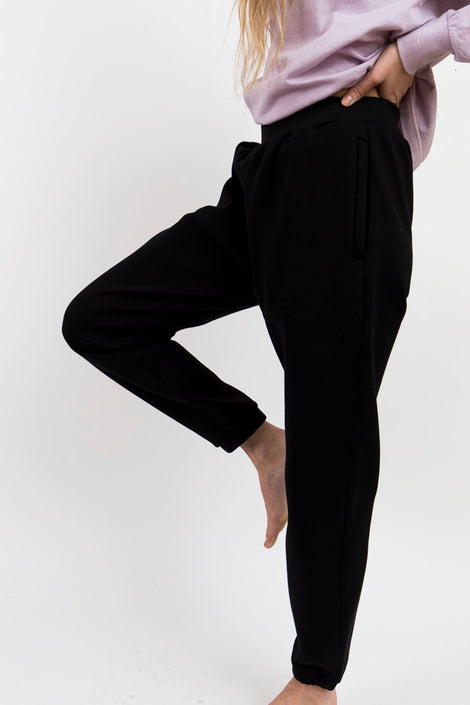 Maiden Noir Poly Fleece Pants-Black Jogger Pants