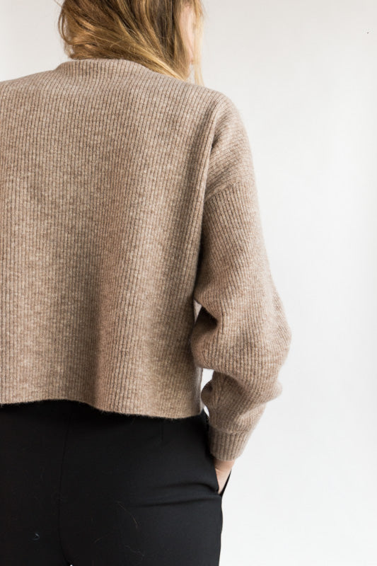 Ribbed Mockneck Sweater