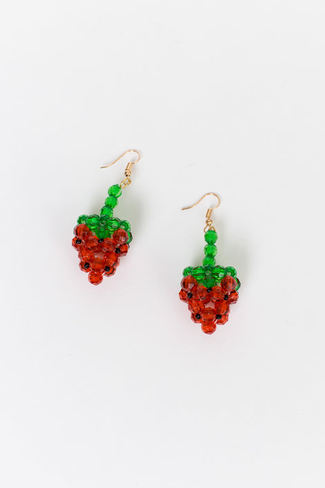 Susan Alexandra Fragola Earrings-Beaded Earrings-Fruit Earrings