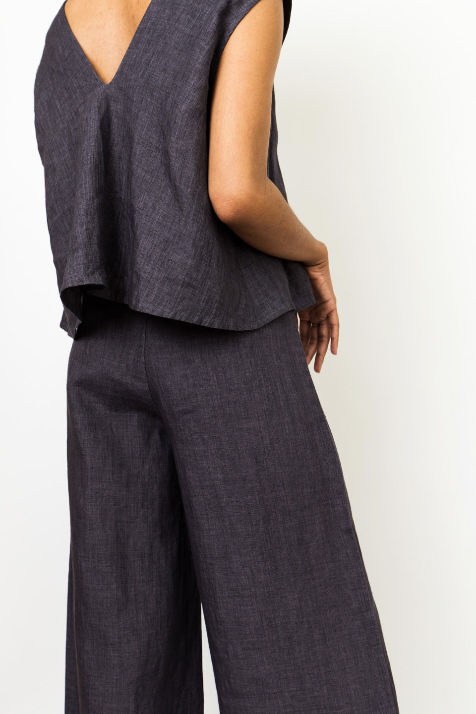 7115 by Szeki Signature Wide Leg Trouser-Blue Trouser-Wide Leg Trouser