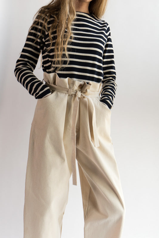 Tigre et Tigre Sahar Pant - paper bag pant - Idun - Saint Paul - womenswear - white pants