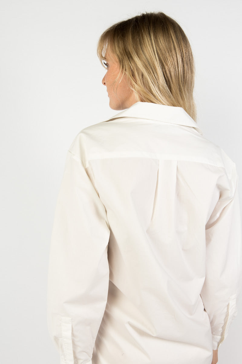 Idun-Saint Paul-Shaina Mote Portofino Dress-White Dress-Shirt Dress