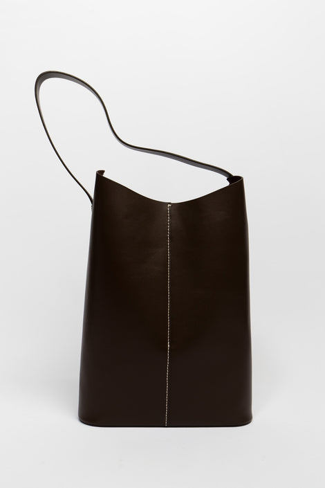 Wave Tote in Dark Chocolate