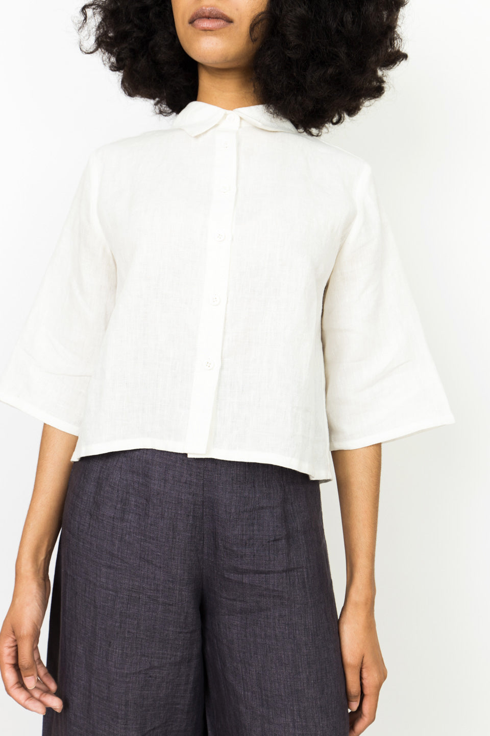 Back Pleated Button Down