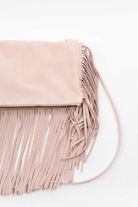 Fringe Shoulder Bag Light Pink