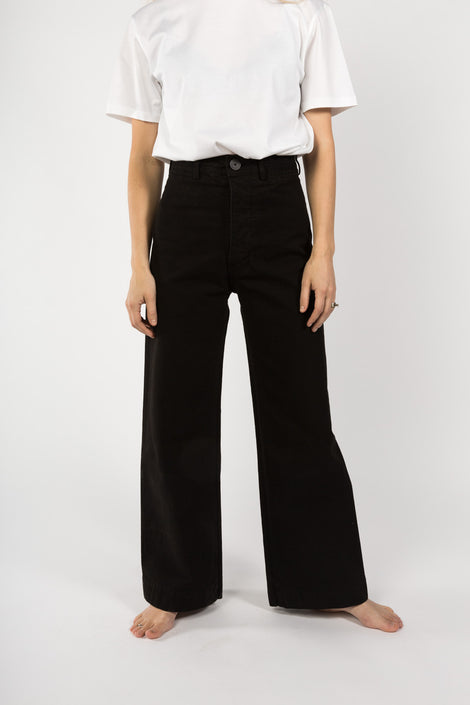 Jesse Kamm Sailor Pants in Black-Kamm Pants-Black Trouser-Wide Legged Trousers