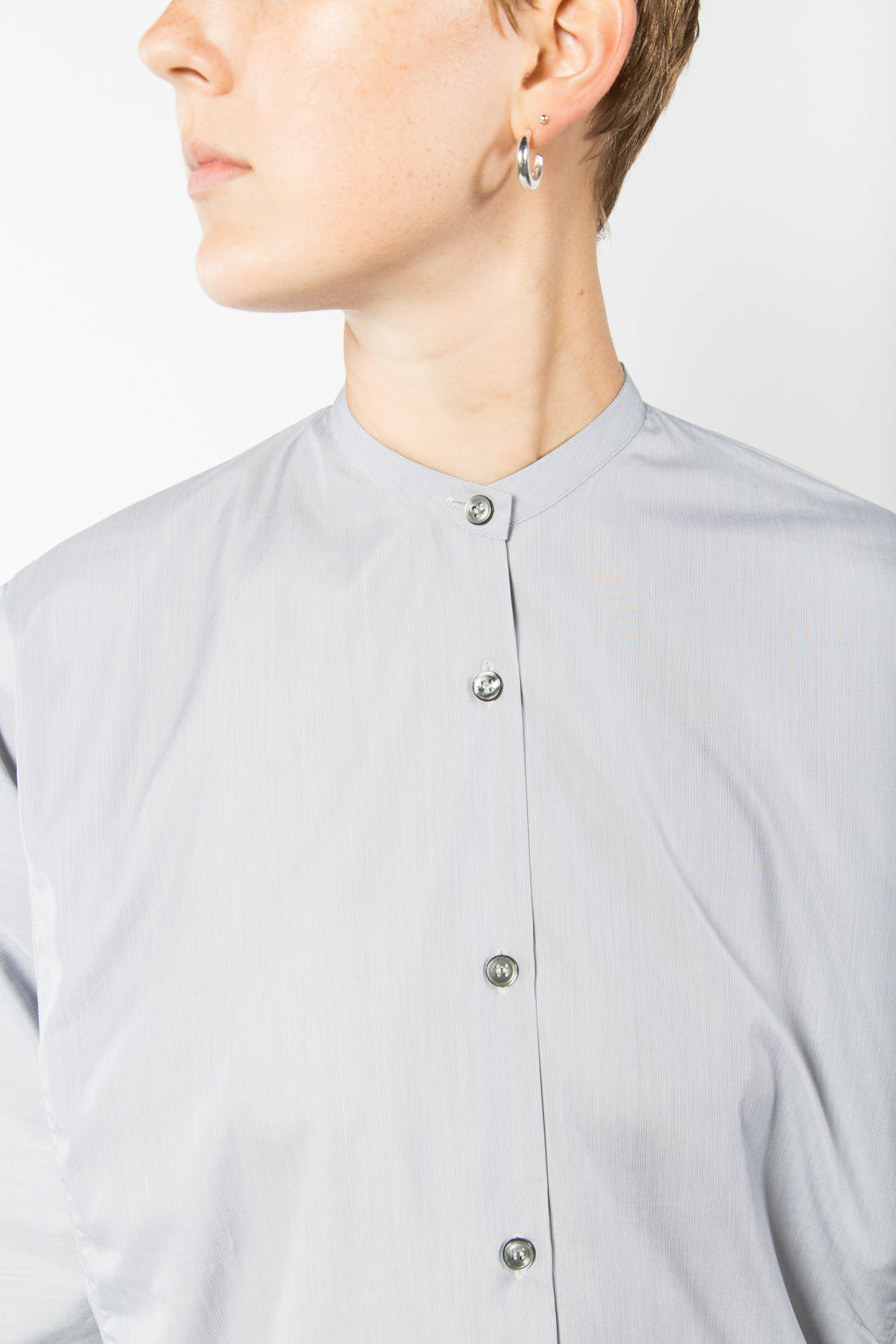 Studio Nicholson Teddy Shirt-Light Blue Top-Tunic-Idun-Saint Paul