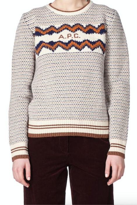 A.P.C.-A.P.C. Adele sweater-jacquard sweater-wool sweater-Idun-St. Paul