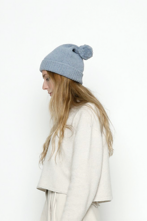 7115 by Szeki-7115 by Szeki Pom Pom Beanie-blue winter beanie-blue winter hat-pom pom winter hat-Idun-St. Paul