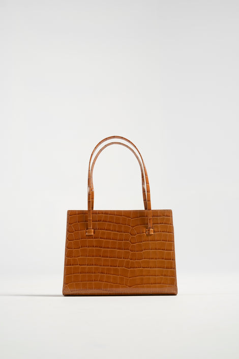 Maryam Nassir Zadeh-Maryam Nassir Zadeh purse-Maryam Nassir Zadeh anika purse in chestnut croc-small leather purse-crocodile leather purse-Idun-St. Paul
