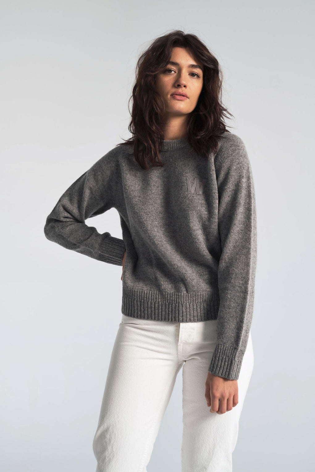 Asta Sweater in Grey Melange