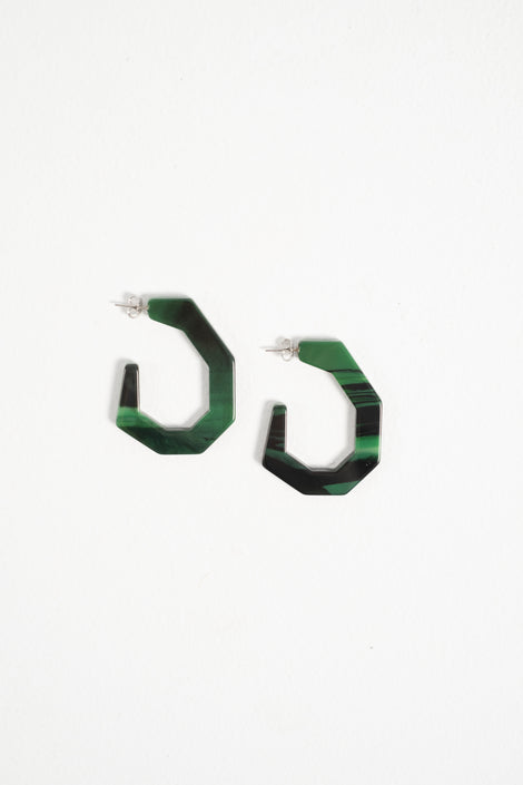 Rachel Comey earrings-Rachel Comey baby factor-Baby factor earrings-Rachel Comey-green hoop earrings-Idun-St. Paul