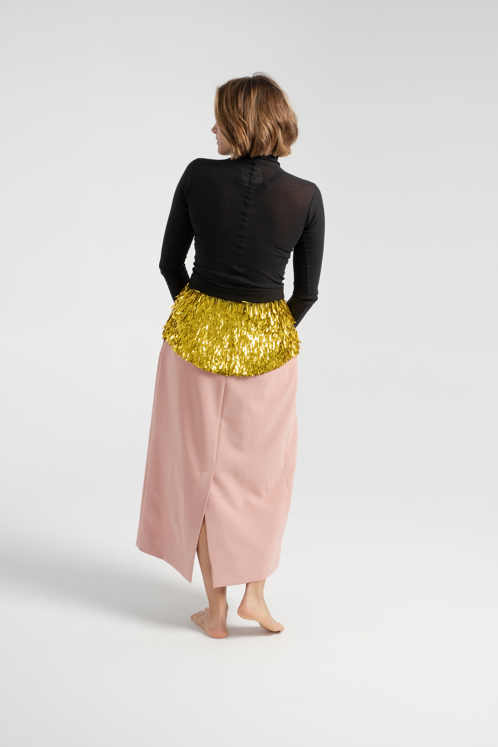 Rachel Comey-Rachel Comey Tuscala Skirt-pink sequined skirt-midi pink skirt-sequined skirt-Idun-St. Paul