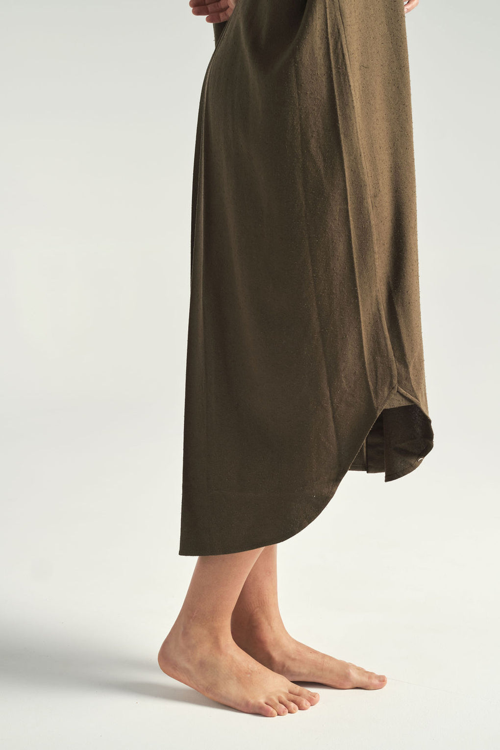 Signature Maxi Shirtdress in Olive