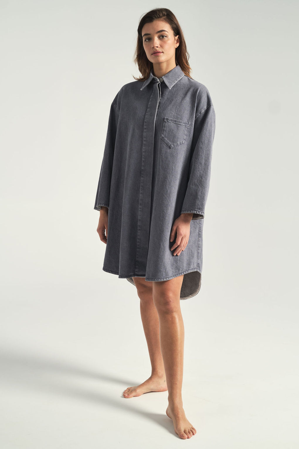 MM6 by Maison Margiela-denim coat-denim overcoat-Idun-St.Paul-denim dress