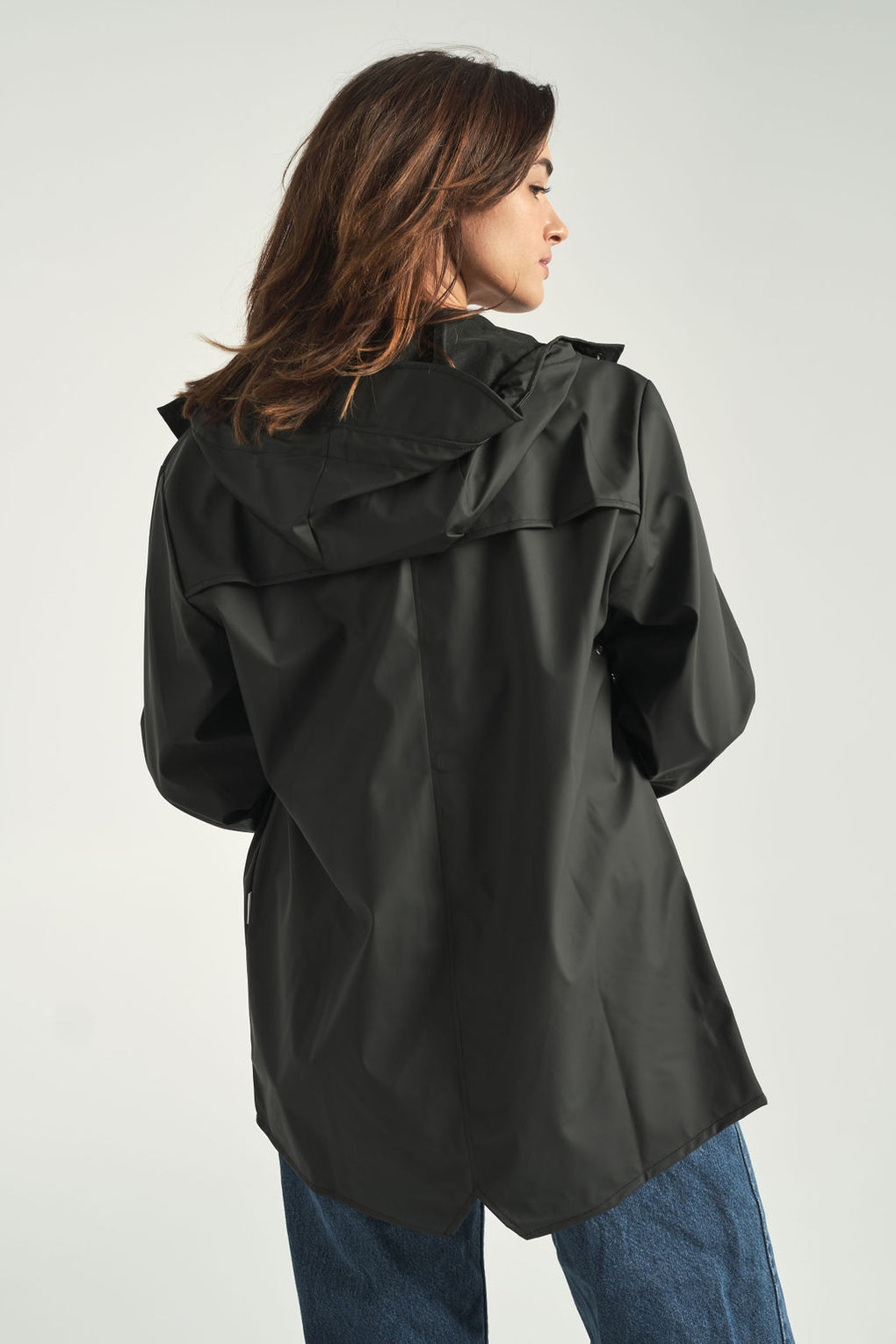 Rains-rain jacket-black rain jacket-Idun-St. Paul