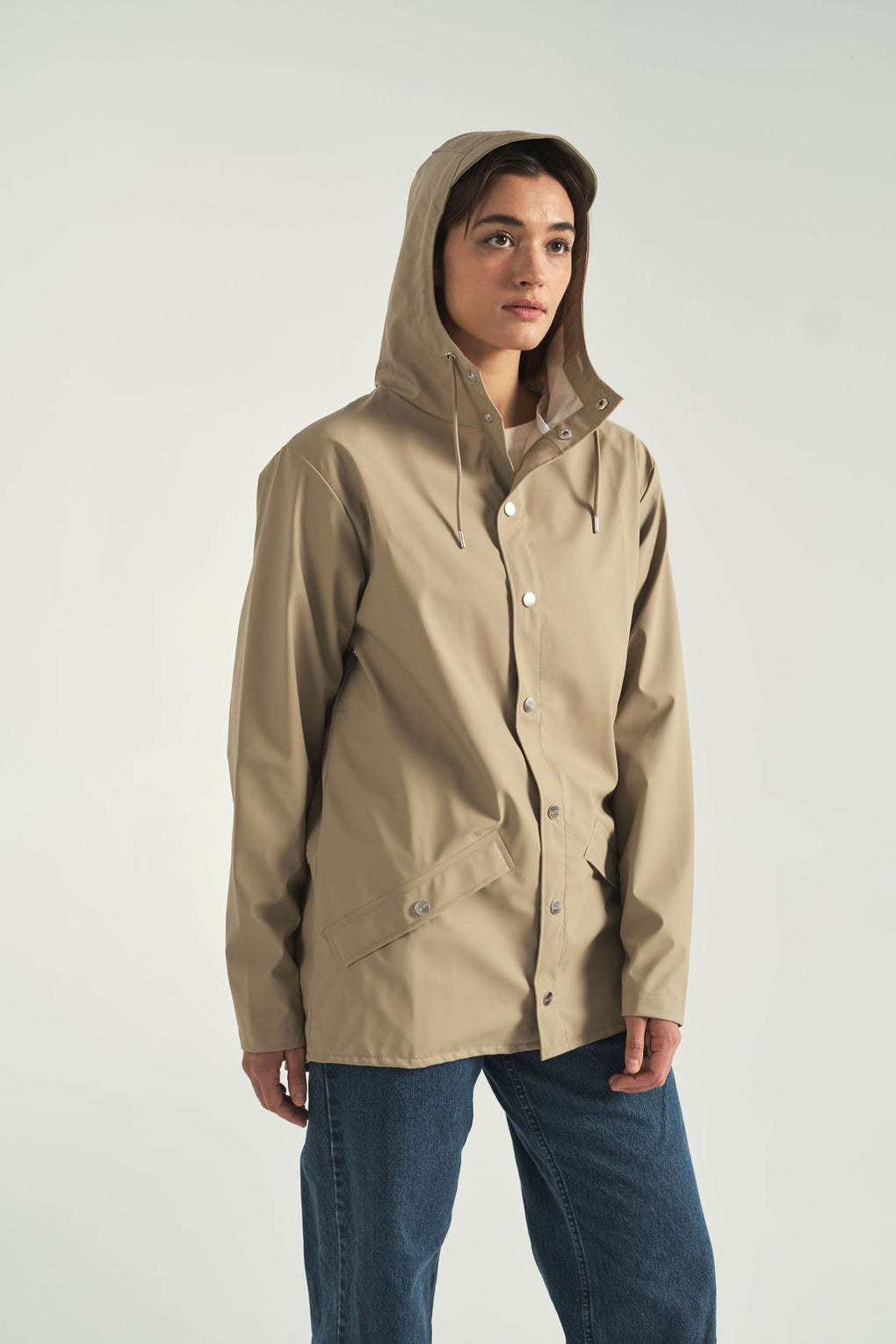 Rain Jacket in Beige