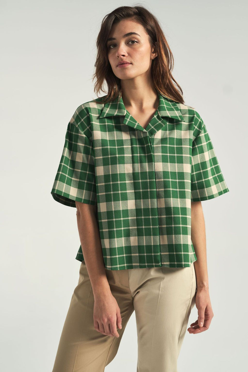 Green check shirt-mm6 by maison margiela-idun-st. paul-spring shirt