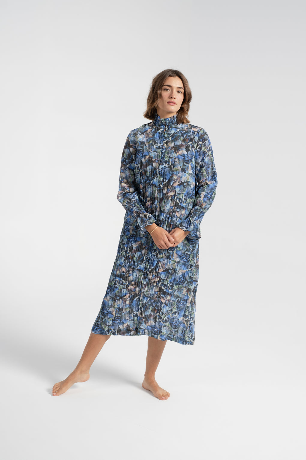 Baum Und Pferdgarten-Baum Und Pferdgarten Aeverie Dress-Aeverie dress-blue dress-fall dress-fall midi dress-turtleneck dress-Idun-St. Paul