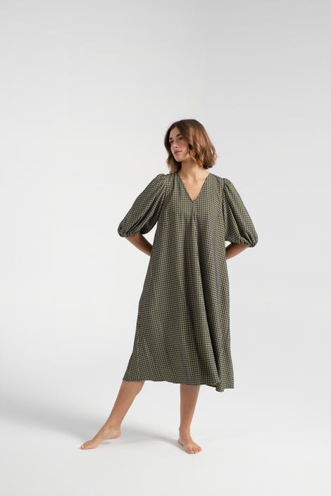 Stine Goya-Stine Goya dress-Mavelin Dress-midi dress-green dress-Idun-St. Paul