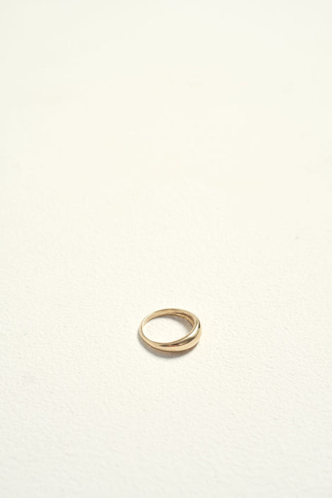 dorsal ring-another feather-gold ring-14k gold-Idun-St. Paul