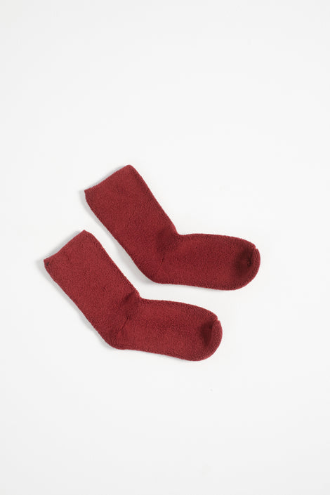 baserange buckle socks-baserange socks-red socks-ankle socks-baserange red socks-fuzzy socks-Idun-St. Paul