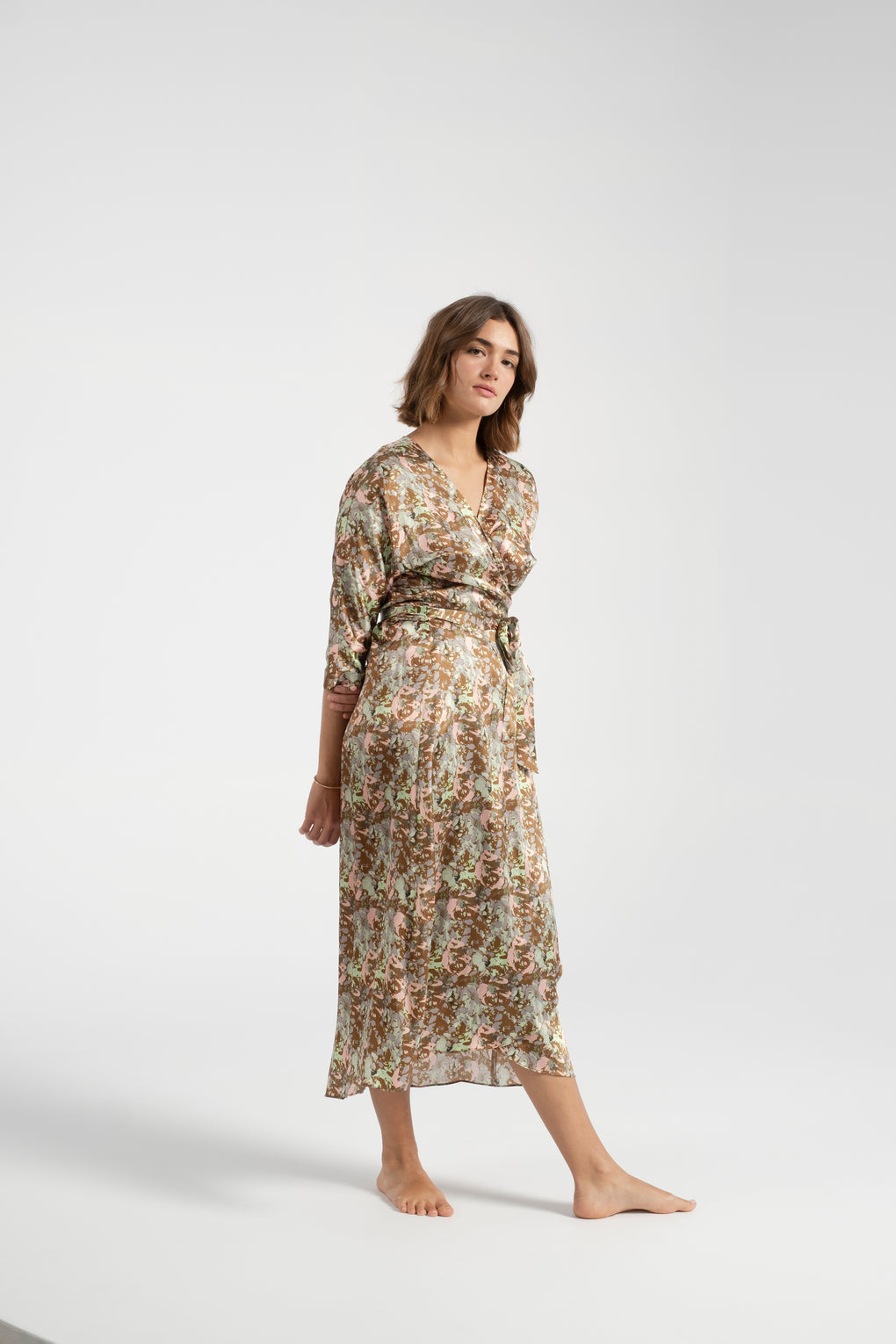No. 6-No. 6 Georgia dress-wrap dress-No.6 wrap dress-silk wrap dress - Idun - St. Paul