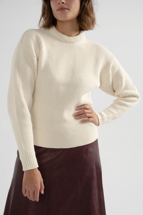 Apiece Apart-Apiece Apart sweater-Apiece Apart Finsen Knit-knit white sweater-white sweater-ribbed white sweater-cream sweater-Idun-St. Paul