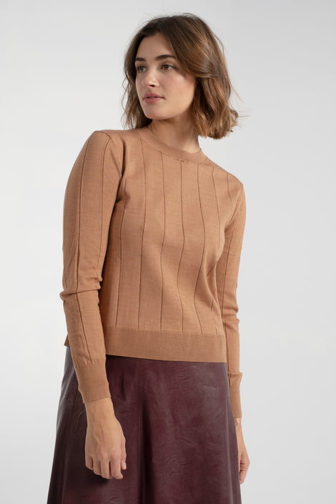 Rachel Comey Baylis Top-Baylis sweater-Rachel Comey Baylis sweater-Rachel Comey sweater-brown sweater-fall sweater-Idun-St. Paul