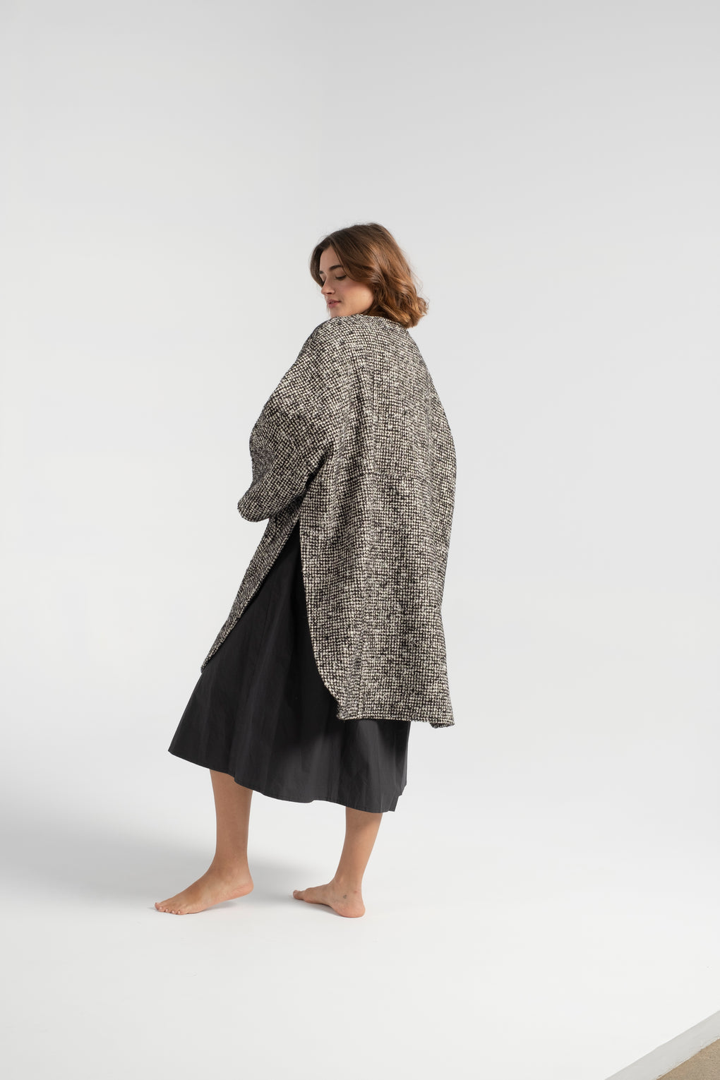Apiece Apart-Apiece Apart Fatima Cape-houndstooth coat-houndstooth cape coat-cape coat-Apiece Apart coat-Apiece Apart cape coat-Idun-St. Paul